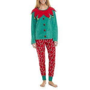 NWT PJ Couture Elf pajamas size L